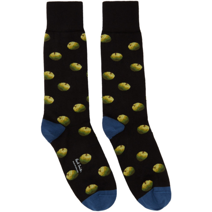 Photo: Paul Smith 50th Anniversary Black and Blue Apple Socks