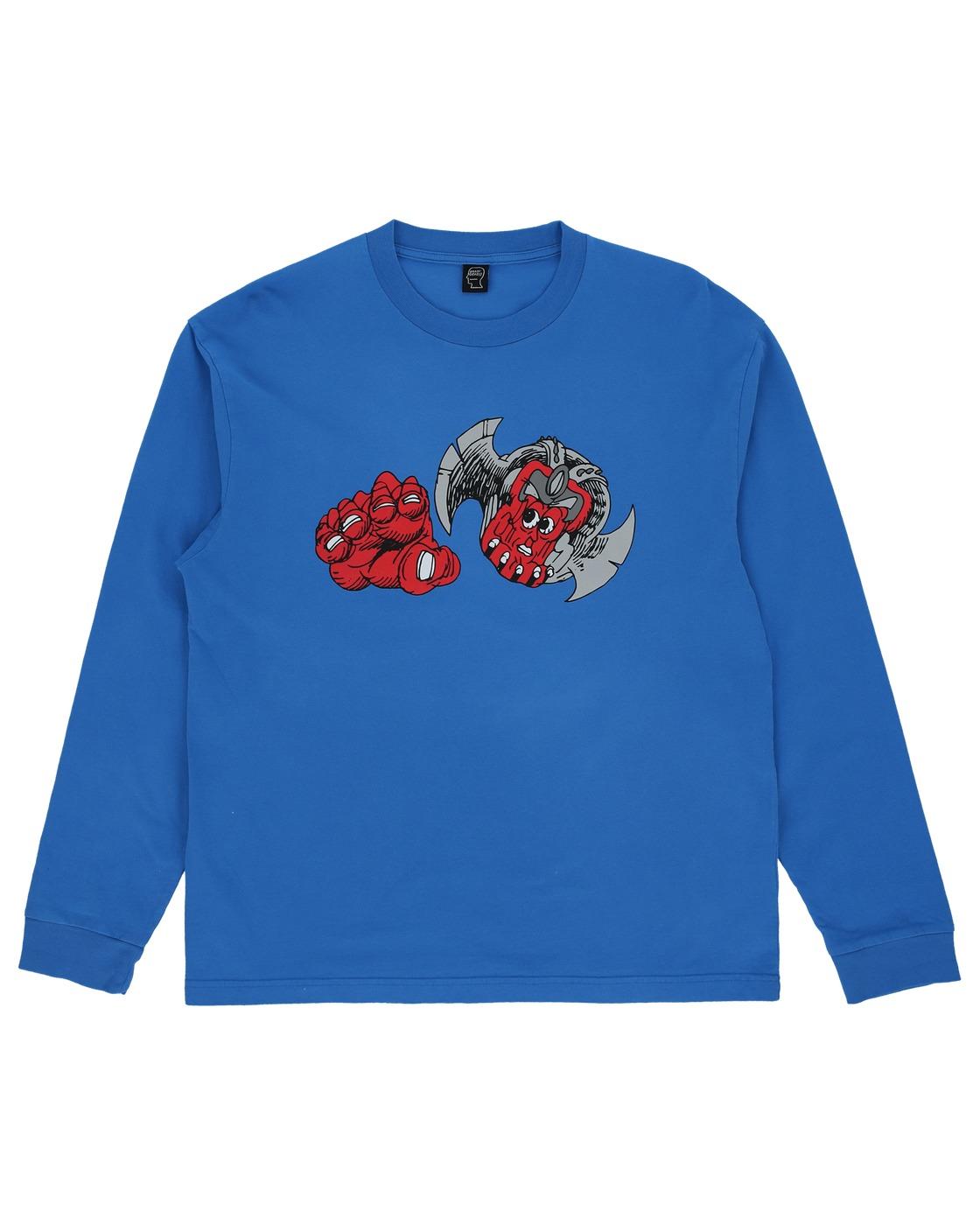 Photo: Brain Dead Summoner Longsleeve T Shirt China Blue