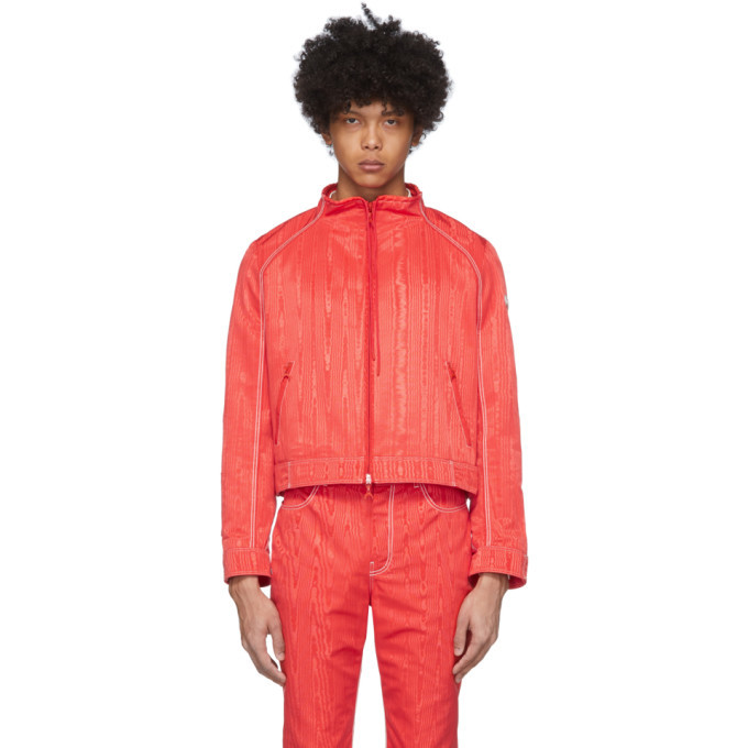 Photo: Marine Serre Red Boxy Bomber Jacket