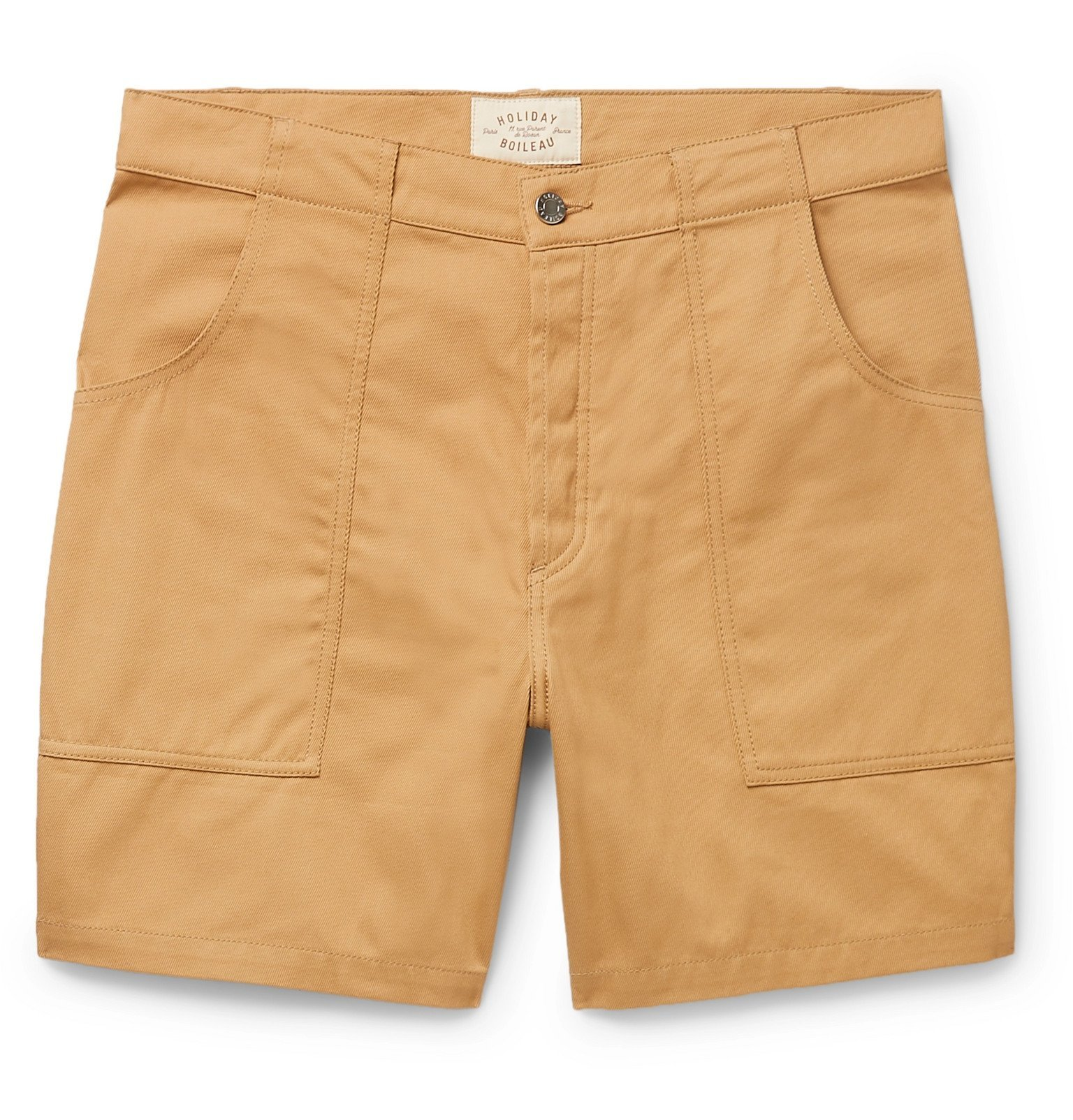 Photo: Holiday Boileau - The Bush Slim-Fit Cotton-Twill Shorts - Neutrals