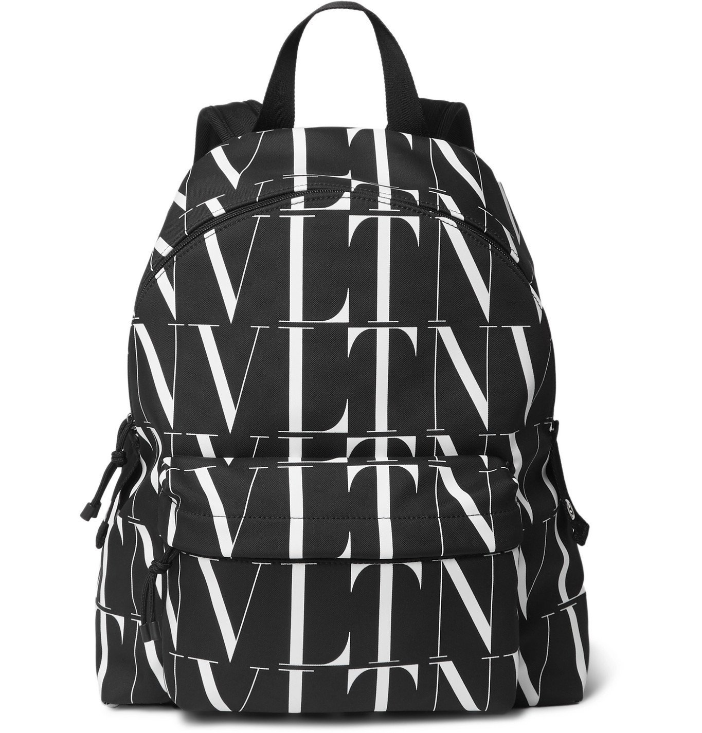Photo: Valentino - Valentino Garavani Logo-Print Canvas Backpack - Black