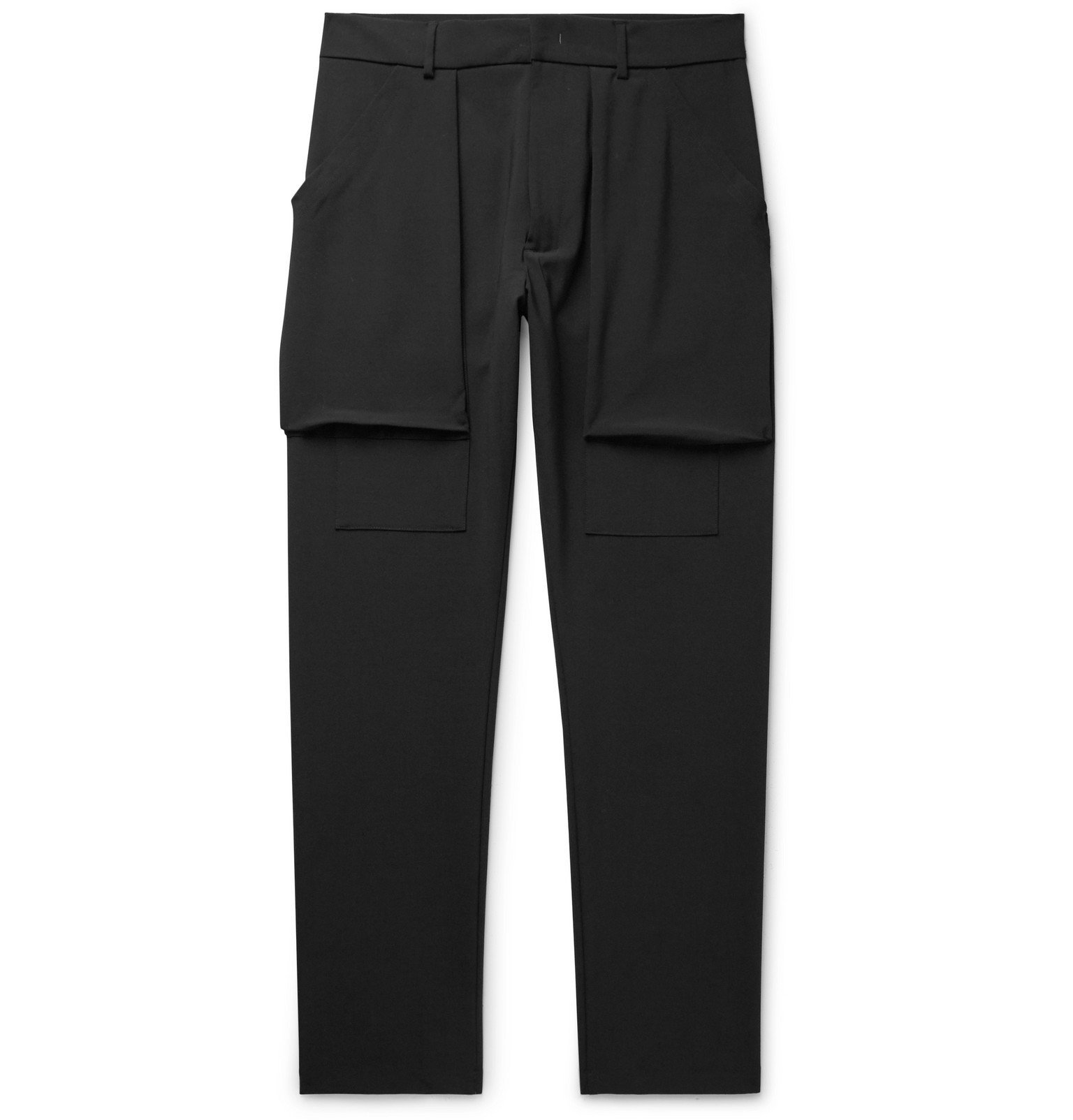 Photo: 424 - Black Slim-Fit Woven Cargo Trousers - Black