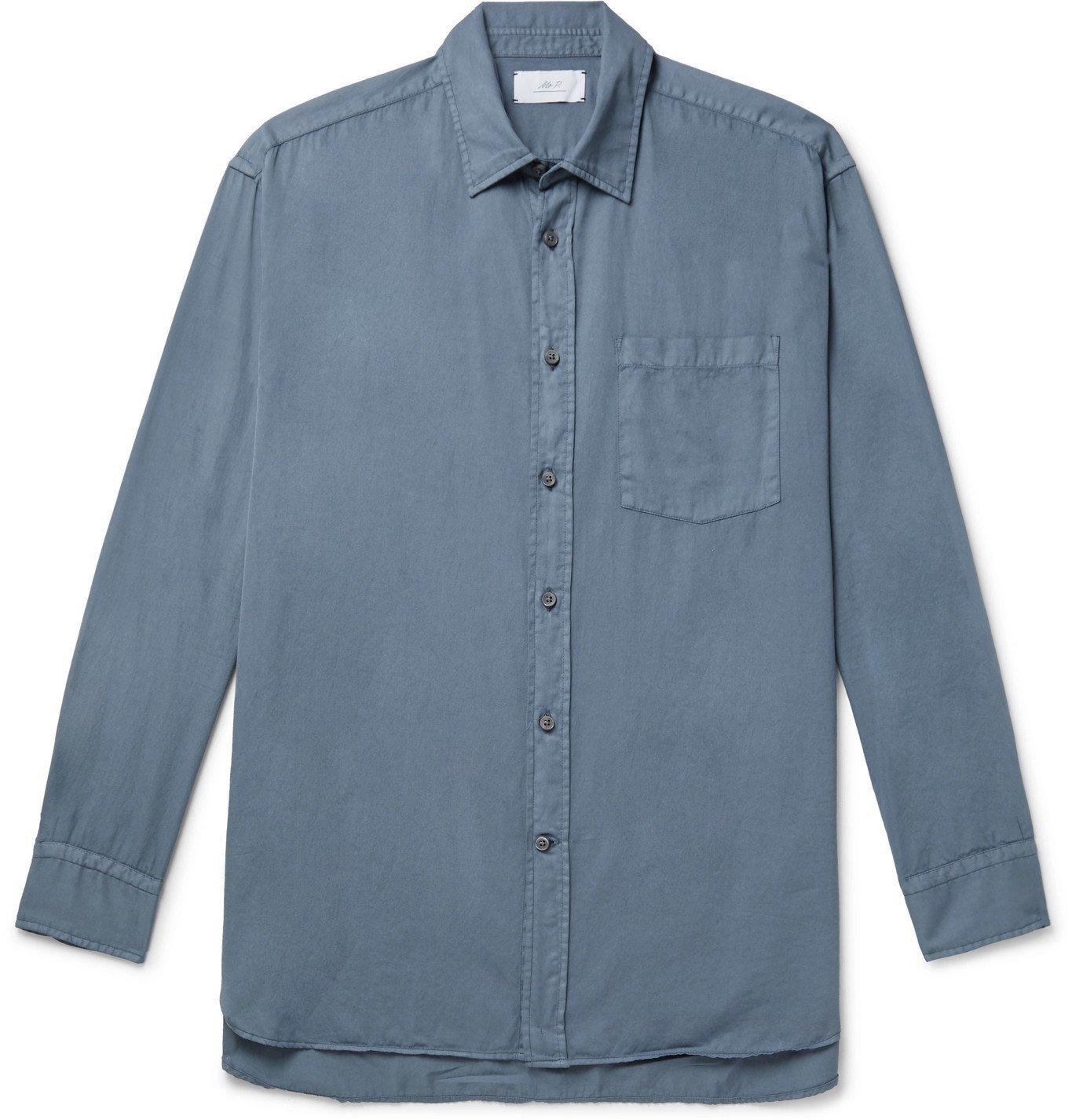 Photo: Mr P. - Cotton Shirt - Blue