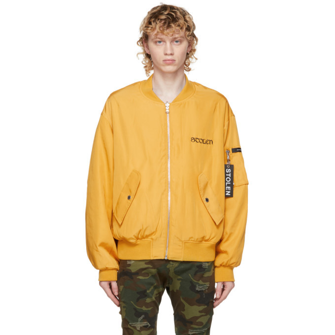 Photo: Stolen Girlfriends Club Reversible Yellow and Black Scorpion Death Bomber Jacket
