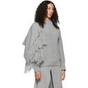 Sacai Grey Scarf Sweater