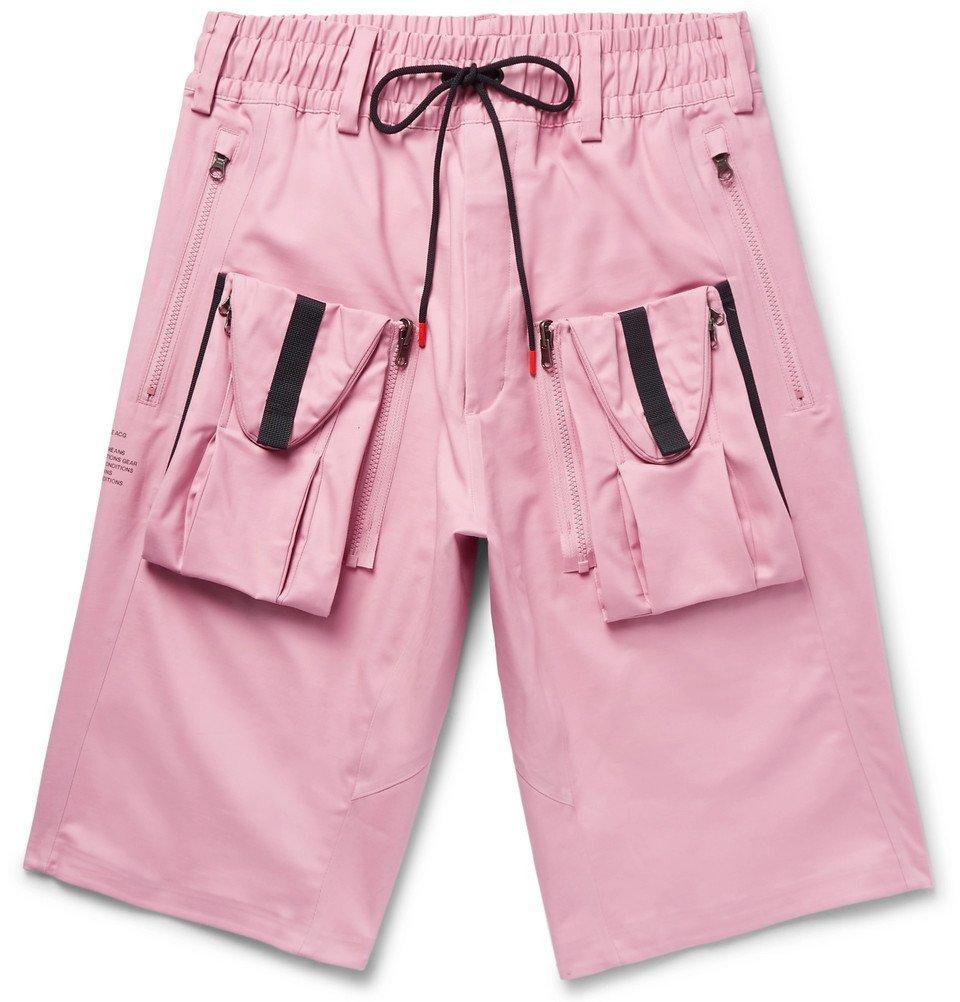 cde620957f Nike - NikeLab ACG Deploy Cargo Stretch-Cotton Shorts - Men - Pink Nike