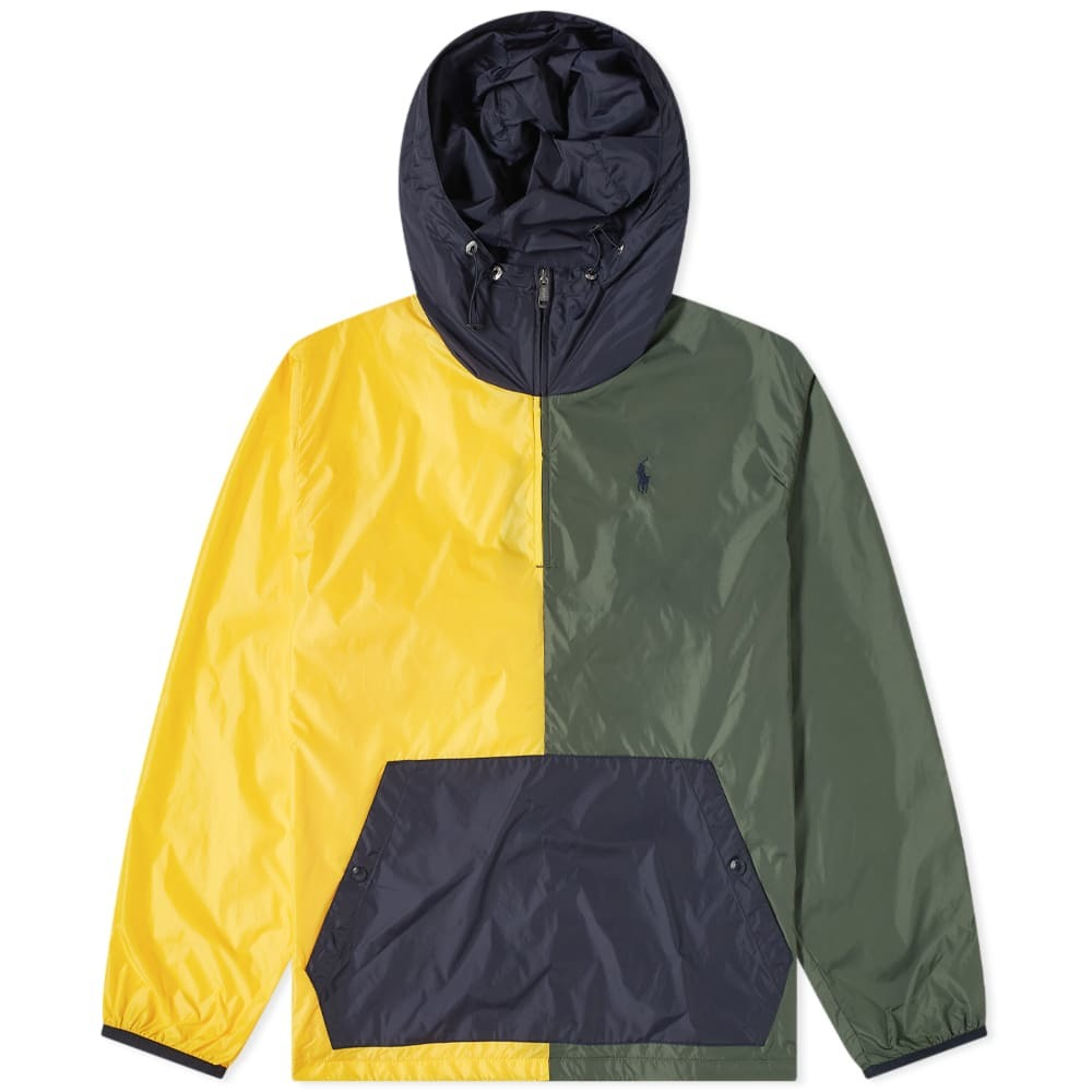 Photo: Polo Ralph Lauren Panelled Popover Hooded Jacket