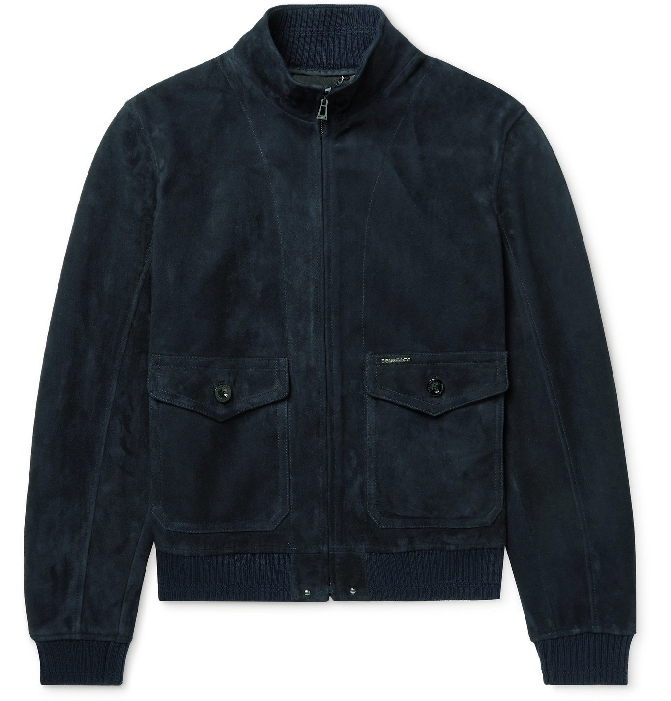 Photo: BELSTAFF - Hughes Suede Bomber Jacket - Blue