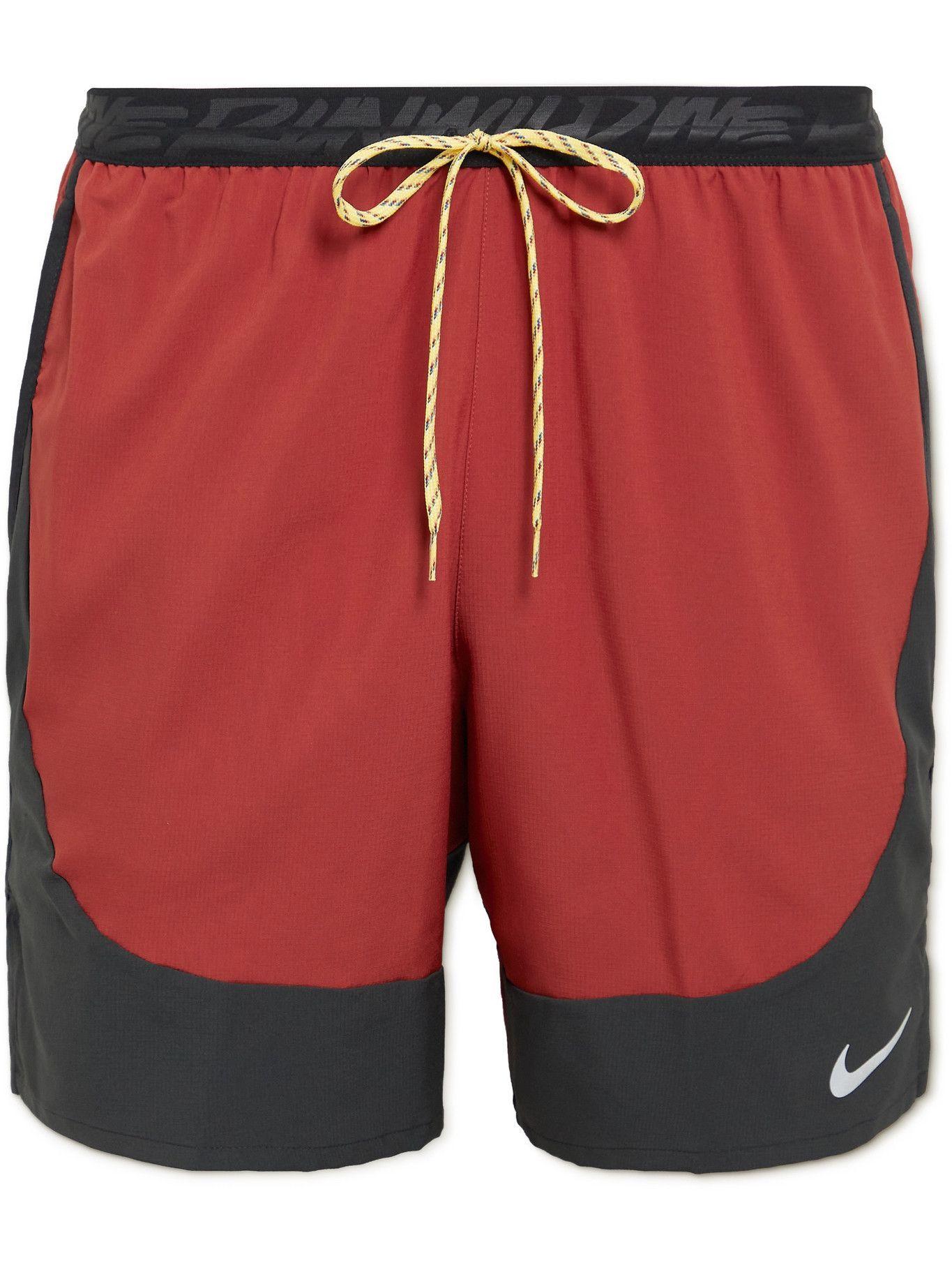 NIKE RUNNING - Flex Stride Dri-FIT Running Shorts - Red
