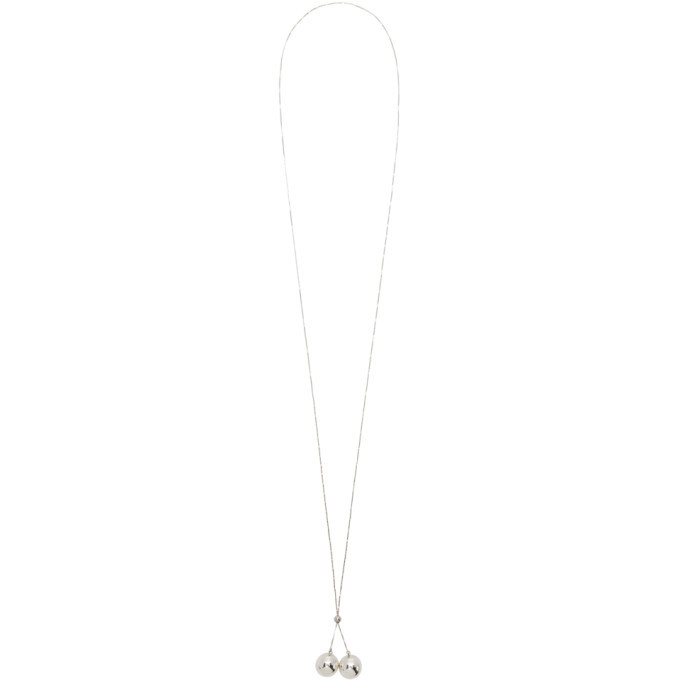 Photo: Bottega Veneta Silver Pendant Necklace