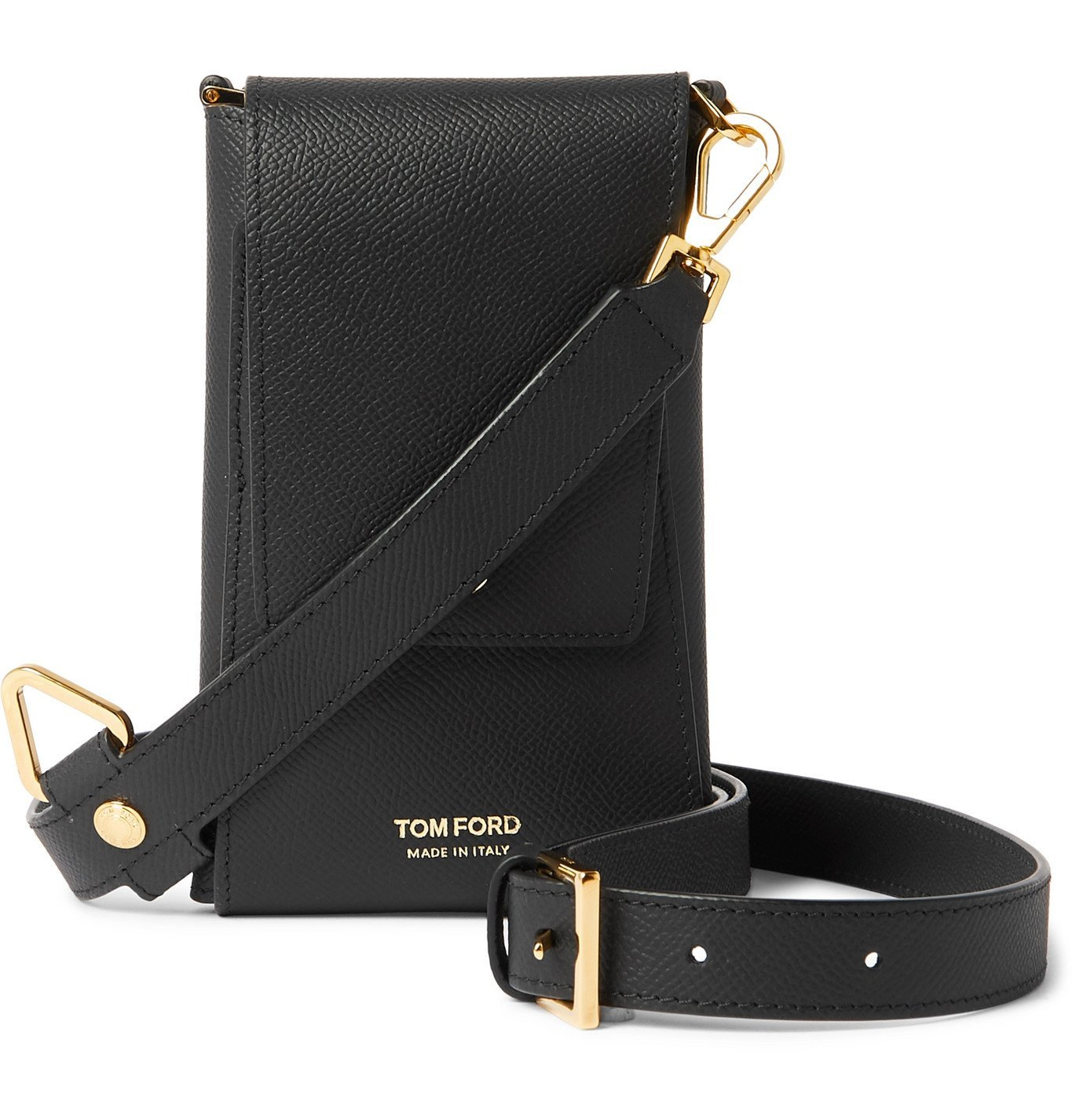 Photo: TOM FORD - Full-Grain Leather Phone Pouch - Black