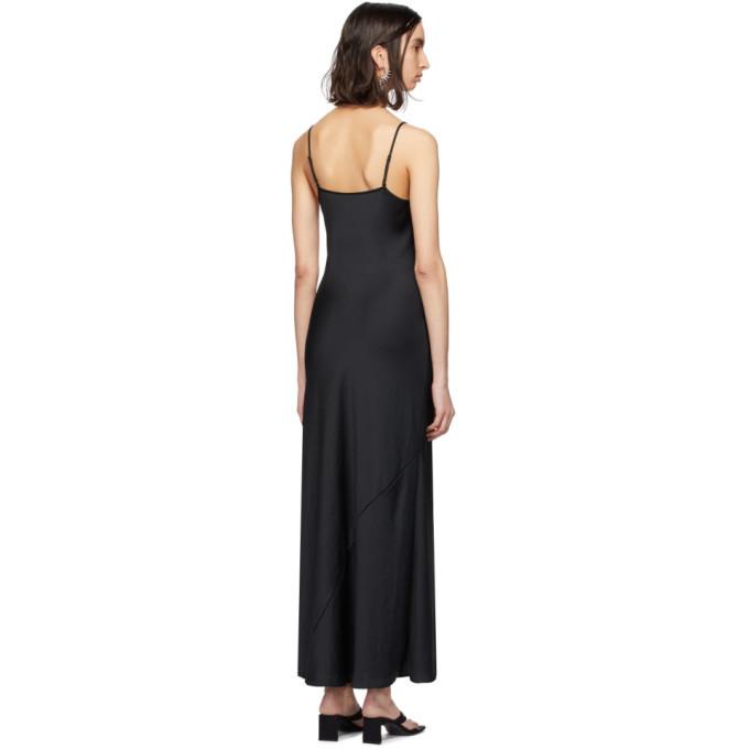 alexanderwang.t Black Light Wash and Go Maxi Cami Dress