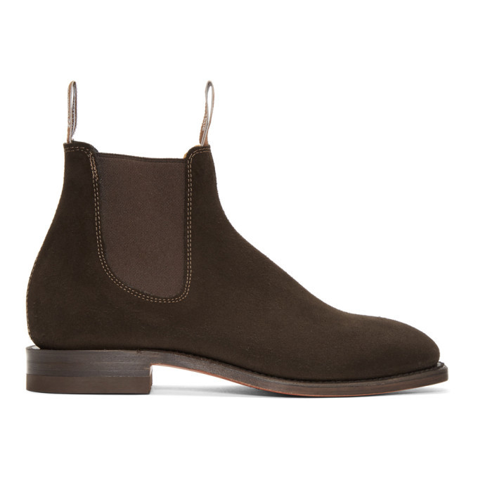 Photo: R.M. Williams Brown Suede Craftsman Chelsea Boots
