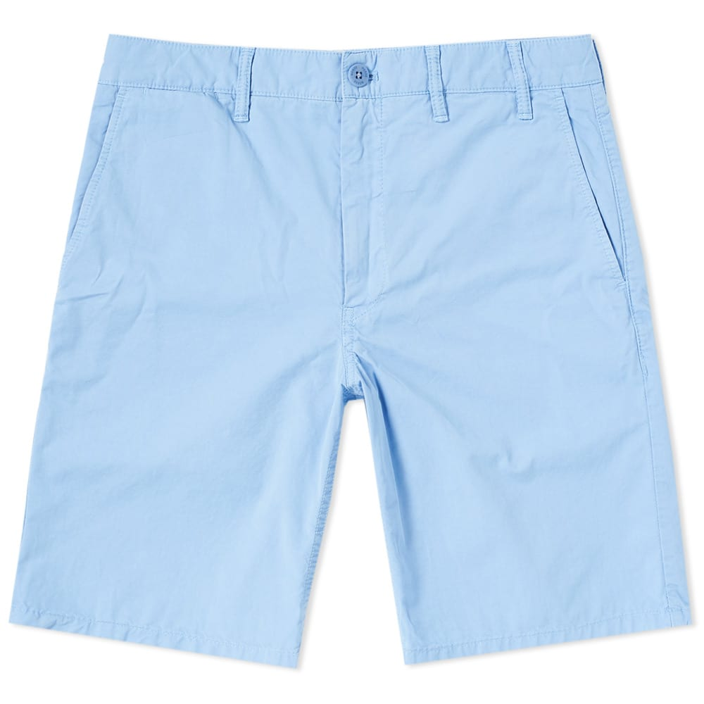 Photo: Norse Projects Aros Light Twill Short Blue