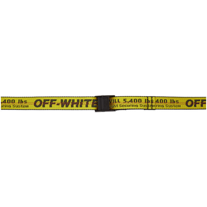 Photo: Off-White Yellow Mini Industrial Belt