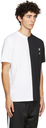 Raf Simons Black & White Fred Perry Edition Split T-Shirt