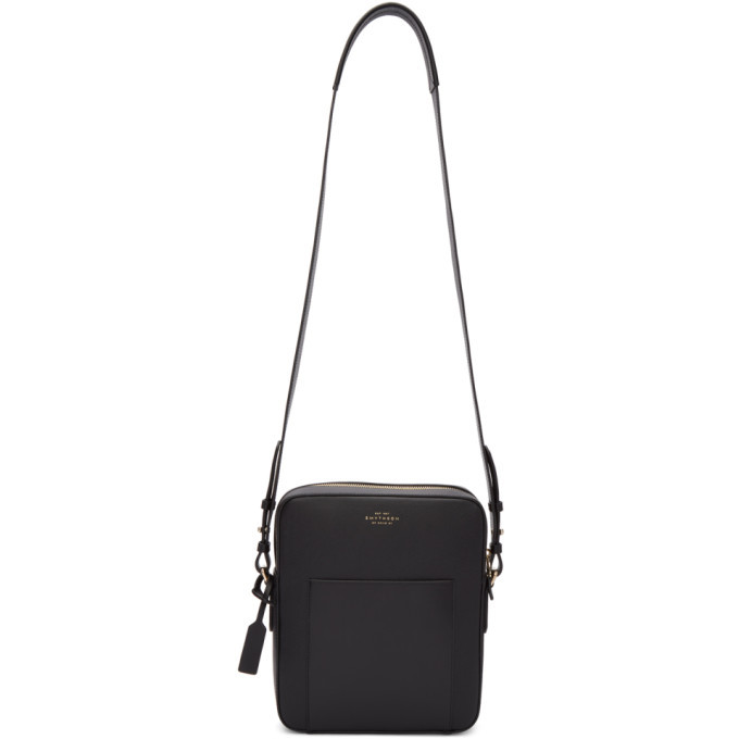Photo: Smythson Black Panama Reporter Bag