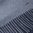 Dunhill - Fringed Cashmere Scarf - Blue