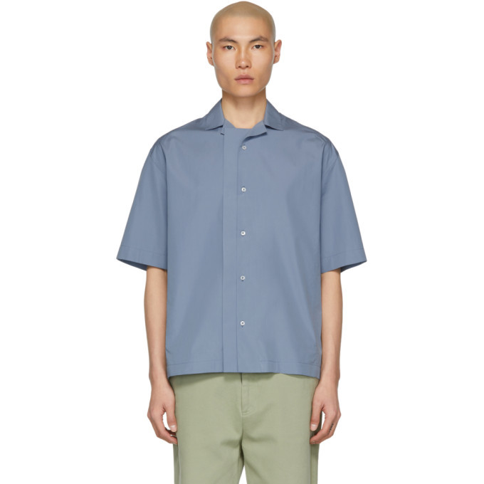 Photo: Jil Sander Blue Sintesi Short Sleeve Shirt