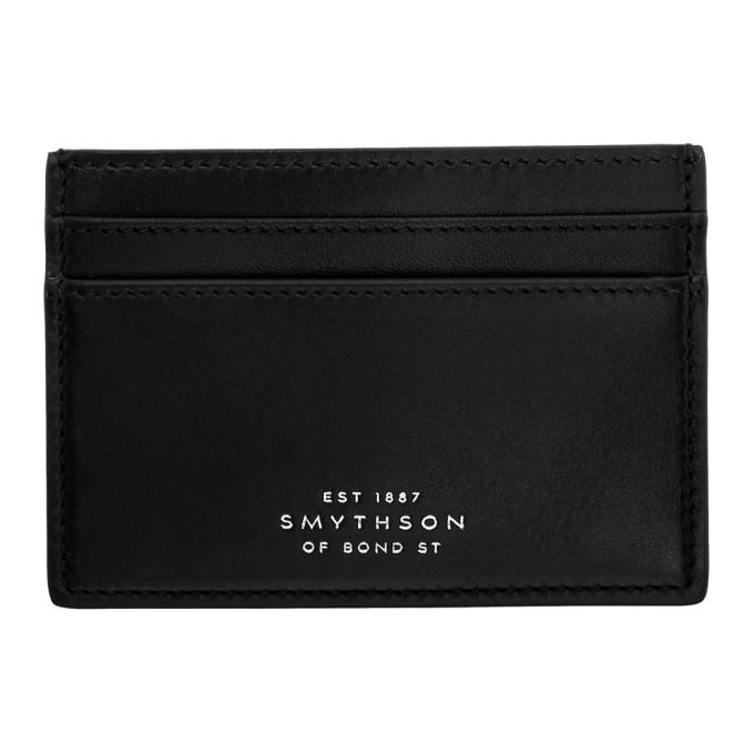 Smythson Black Bond Card Holder