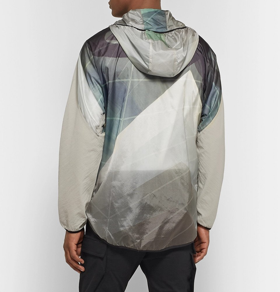 Y-3 - Canvas-Trimmed Printed Nylon-Ripstop Hooded Jacket - Ecru