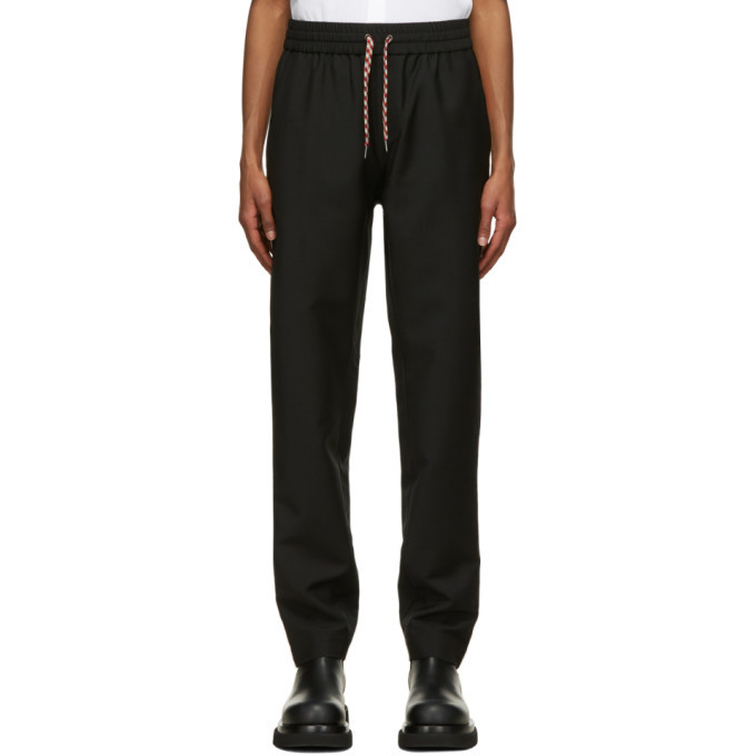 Photo: Burberry Black Mohair Tape Track Sweatpants