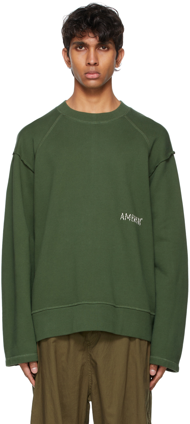 Photo: Ambush Green Raw Edge Sweatshirt