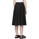Sacai Black Pleated Poplin Skirt