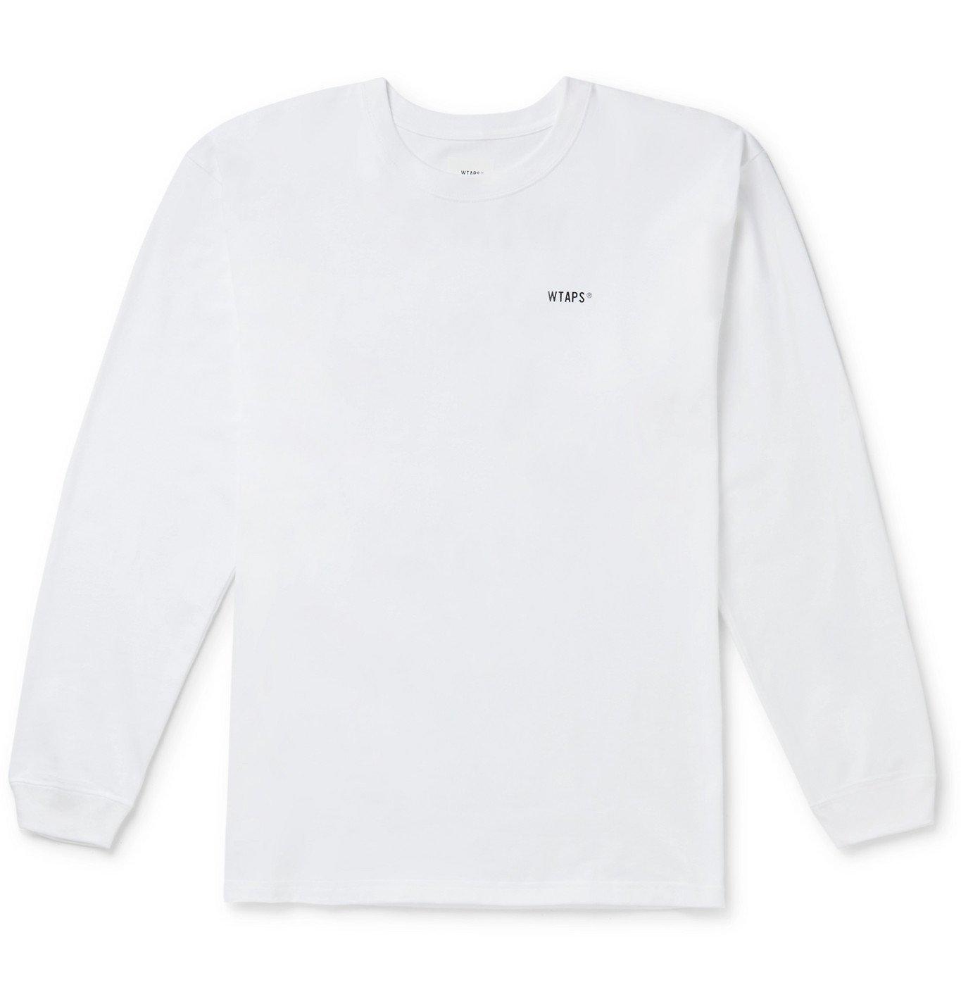 Photo: WTAPS - Logo-Print Cotton-Jersey T-Shirt - White