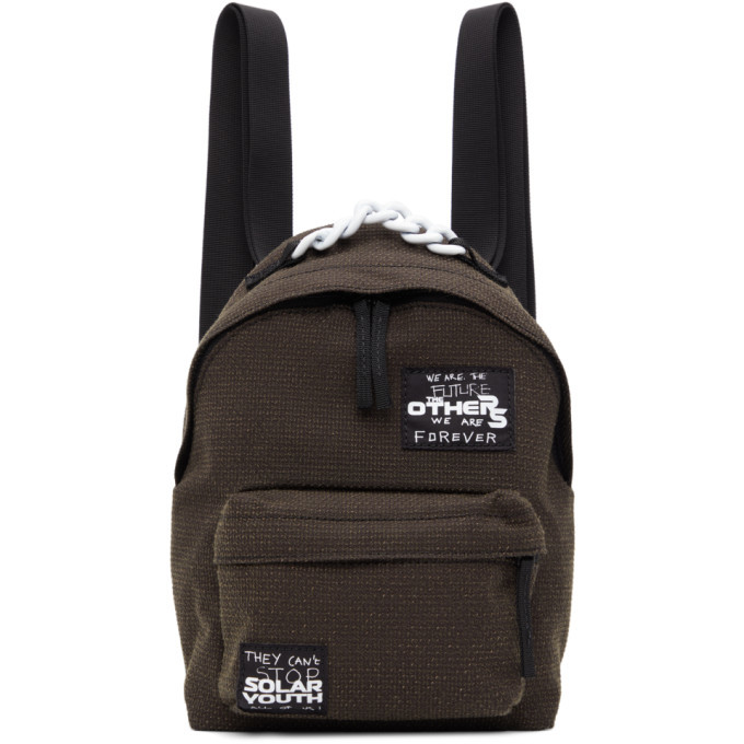 Photo: Raf Simons Brown Eastpak Edition Mini Patches Backpack