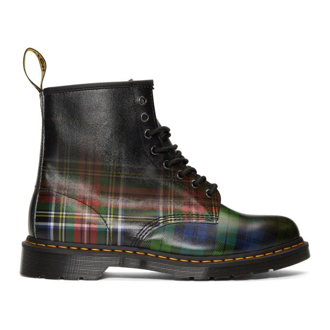 Photo: Dr. Martens Multicolor Plaid 1460 Tartan Boots