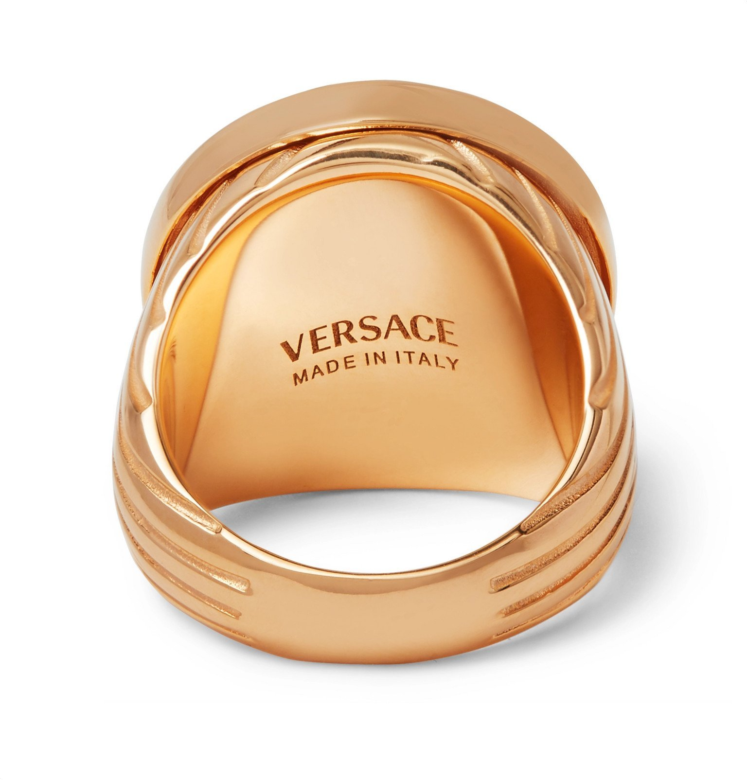 Versace - Gold-Tone Signet Ring - Gold