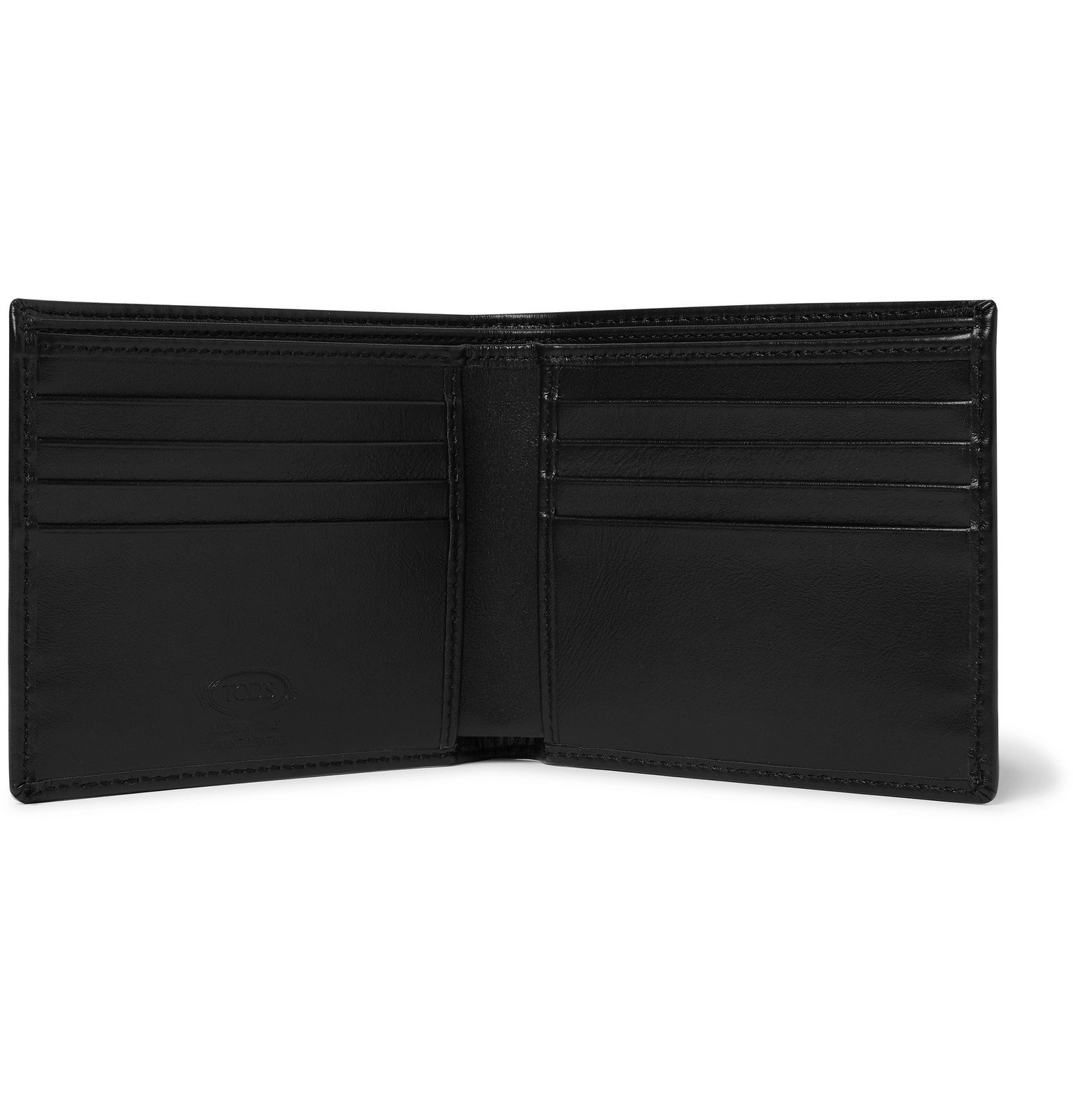 Tod's - Leather Billfold Wallet - Black