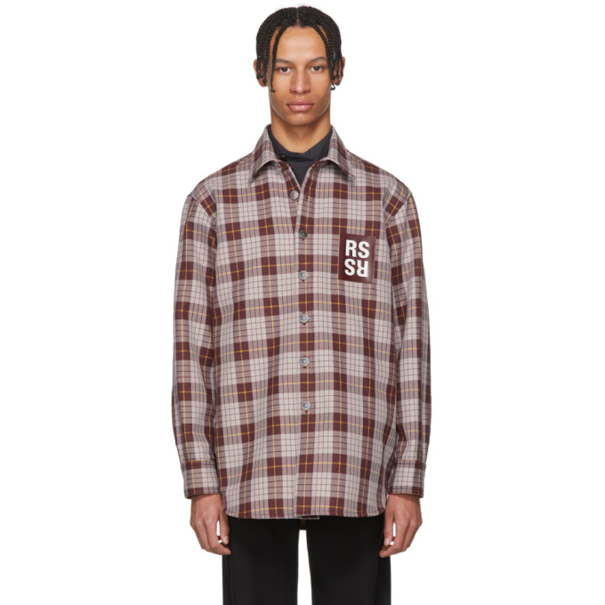 Photo: Raf Simons Brown Check Denim Shirt