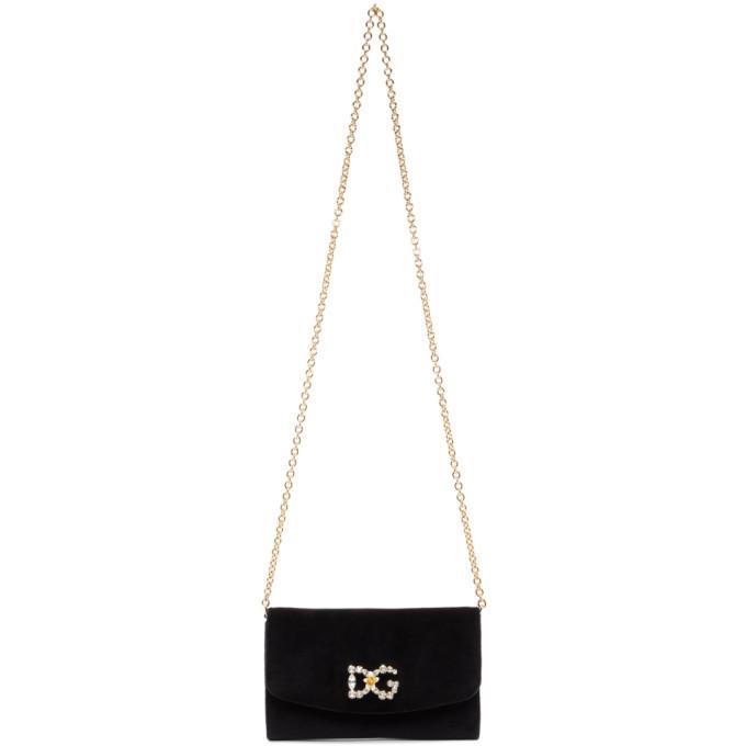 Photo: Dolce and Gabbana Black Velvet DG Mini Bag