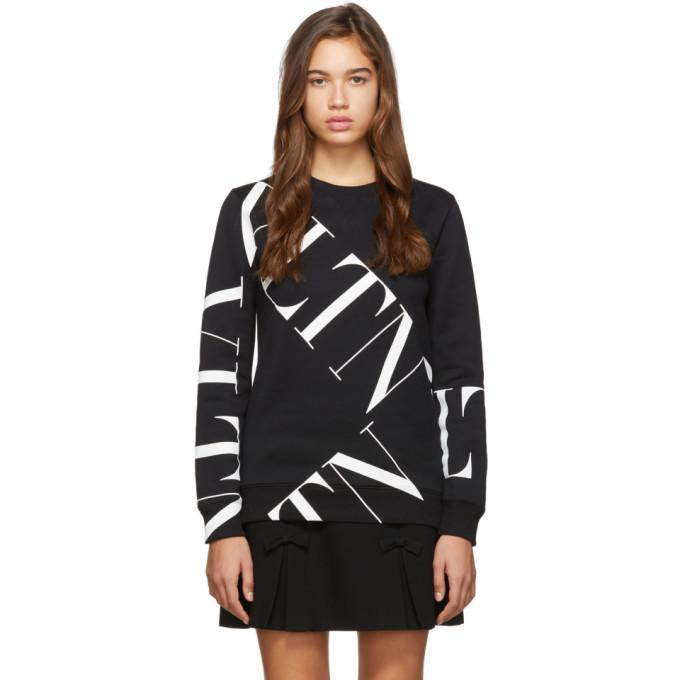 Photo: Valentino Black Macro VLTN Grid Sweatshirt