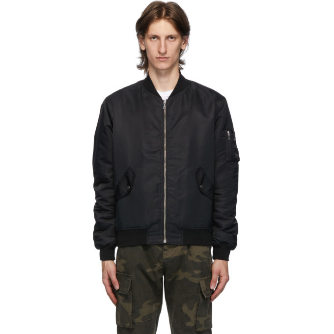 Photo: John Elliott Black Bogota II Bomber Jacket