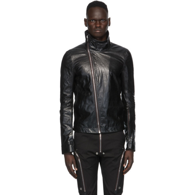 Photo: Rick Owens Black Leather Bauhaus Jacket