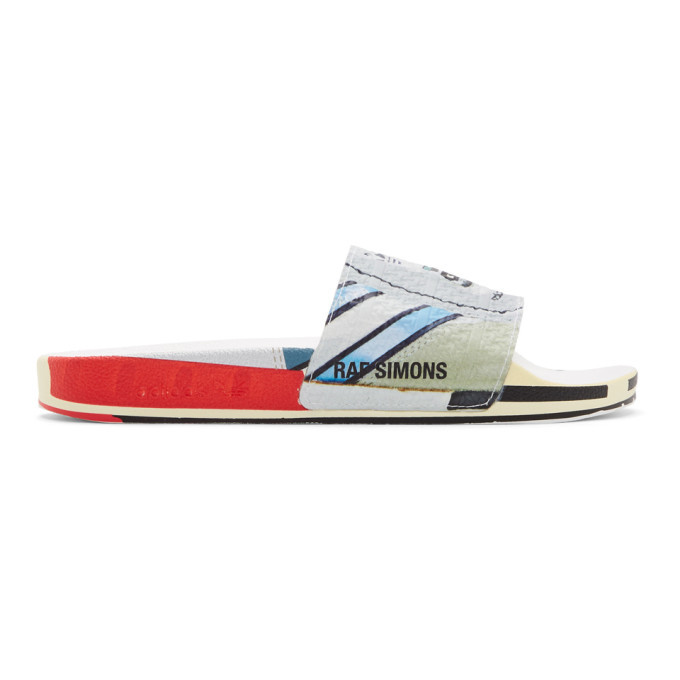 Photo: Raf Simons Silver adidas Originals Edition Micro Adilette Slides