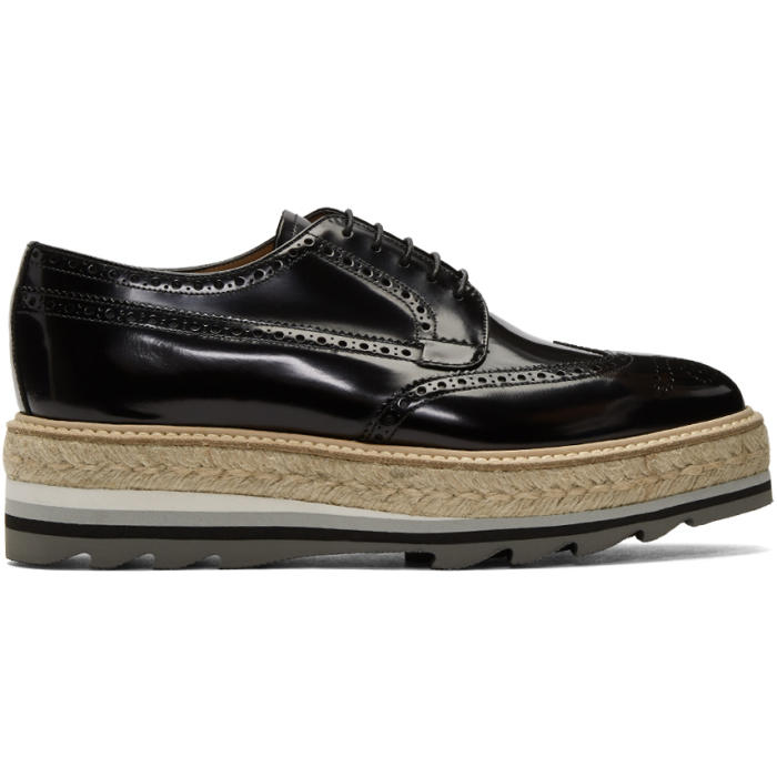 Photo: Prada Black Fume Espadrille Brogues