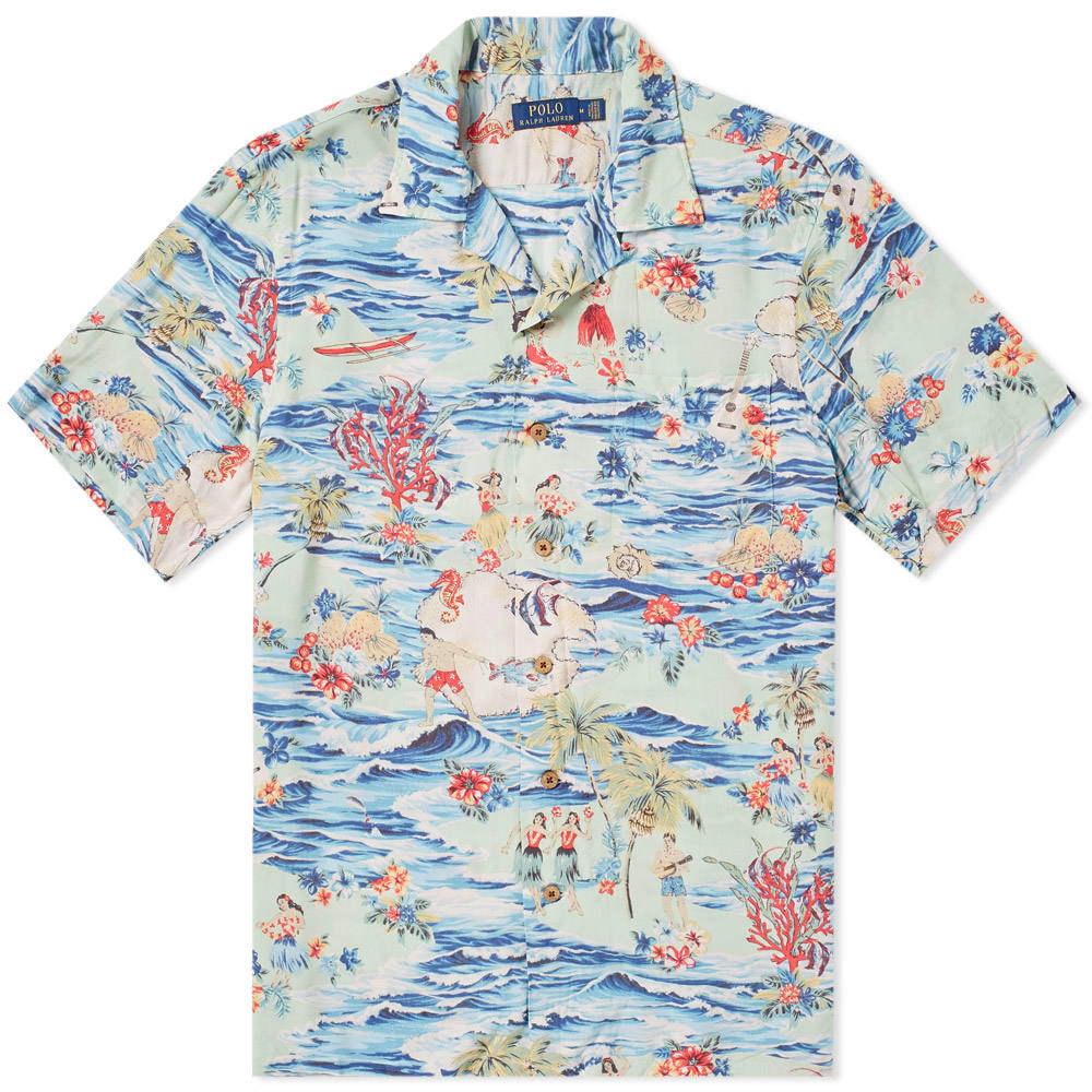 Photo: Polo Ralph Lauren Aloha Print Vacation Shirt Blue