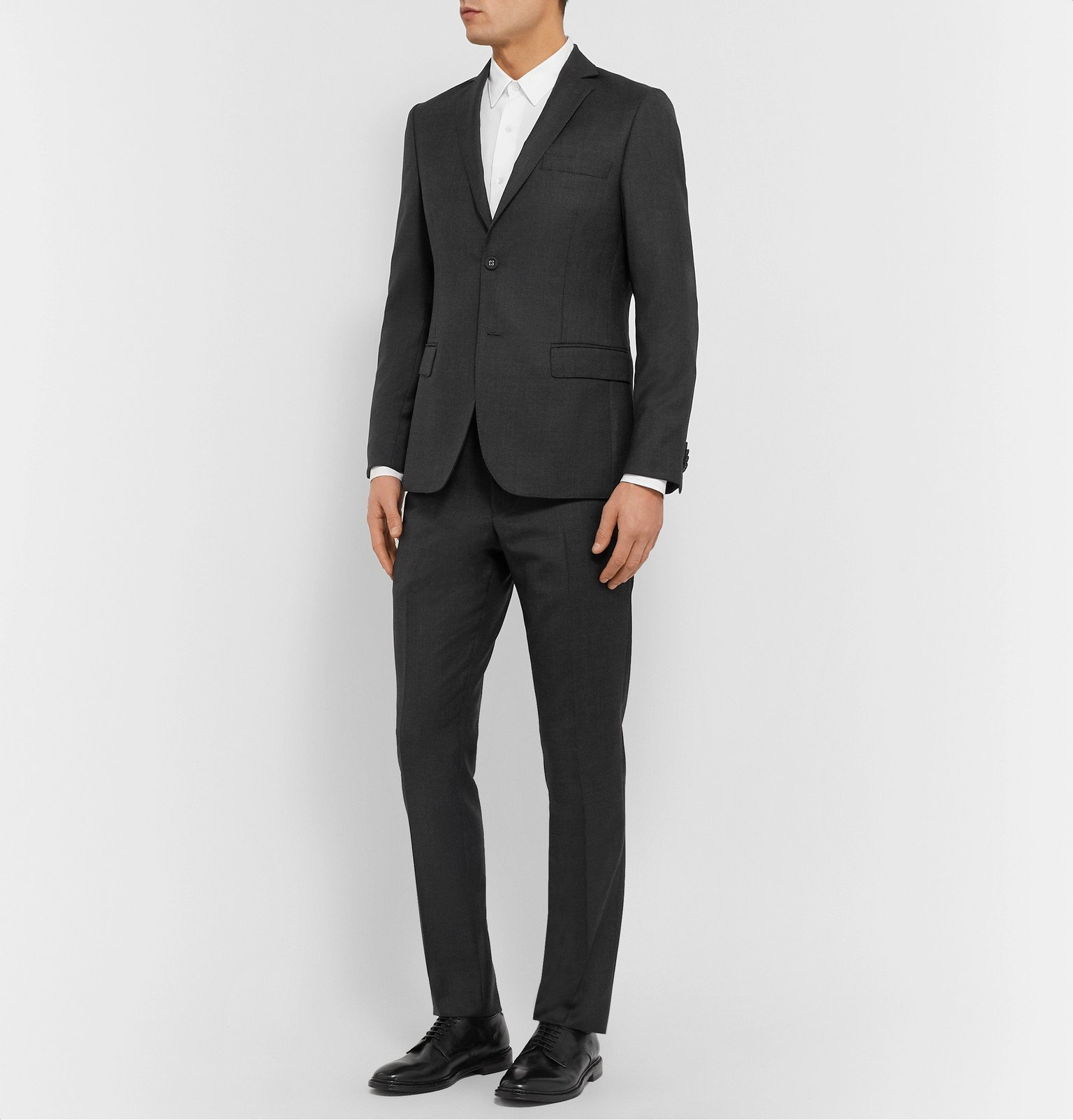Officine Generale - Charcoal Slim-Fit Wool Suit Jacket - Gray