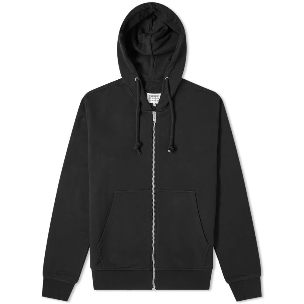 Photo: Maison Margiela 14 Leather Elbow Patch Zip Hoody