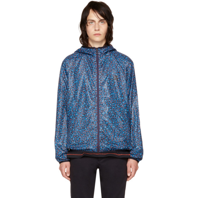 Photo: PS by Paul Smith Blue Multidot Hooded Jacket