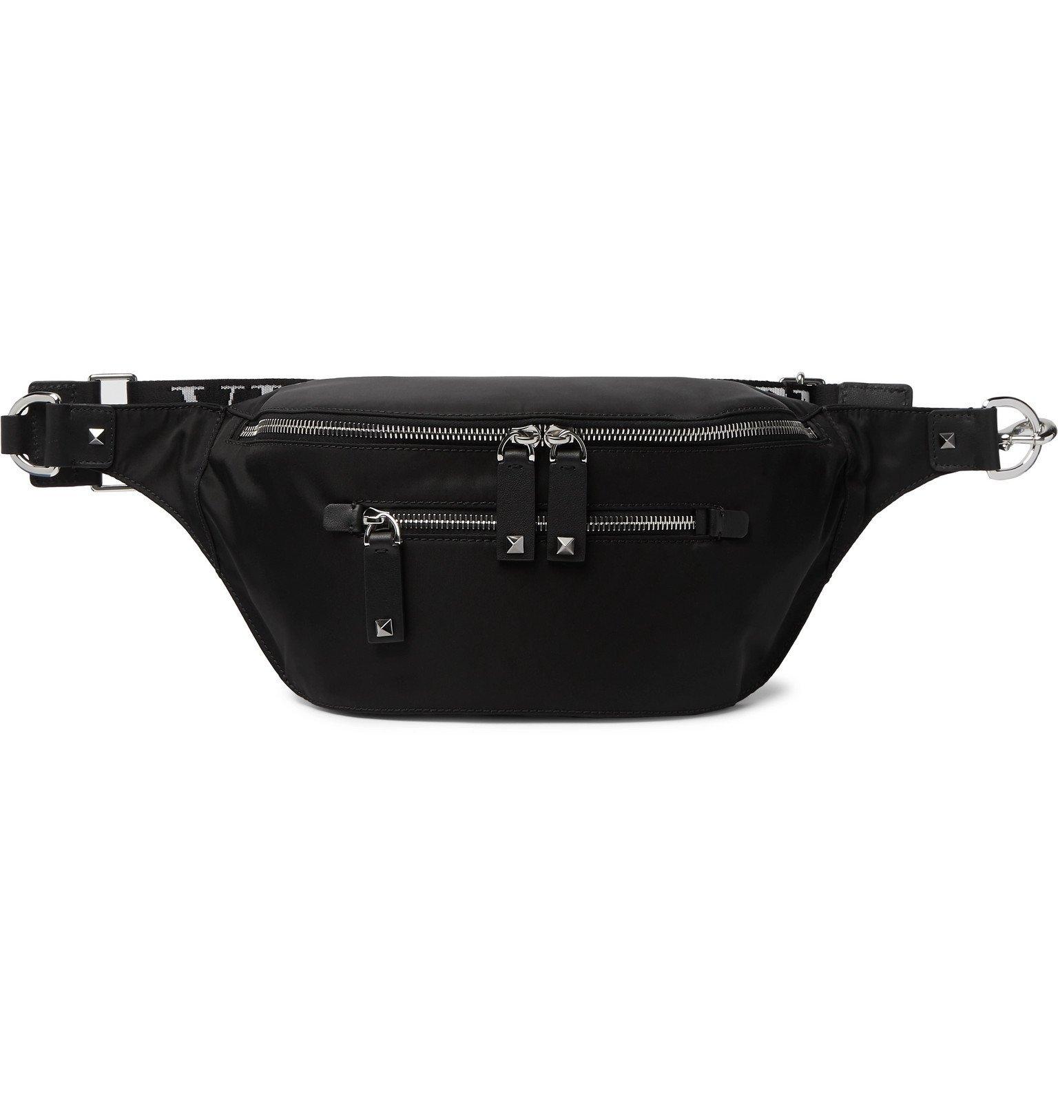 Photo: Valentino - Valentino Garavani Logo-Detailed Shell Belt Bag - Black