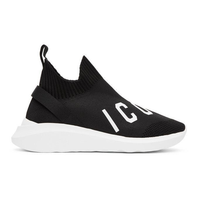 Photo: Dsquared2 Black and White Speedster Sneakers