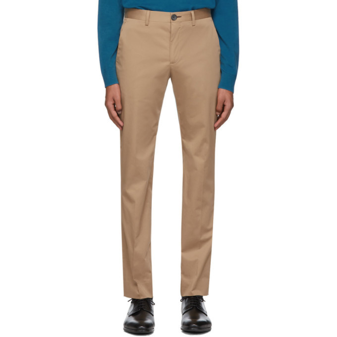 Photo: PS by Paul Smith Tan Chino Slim Trousers