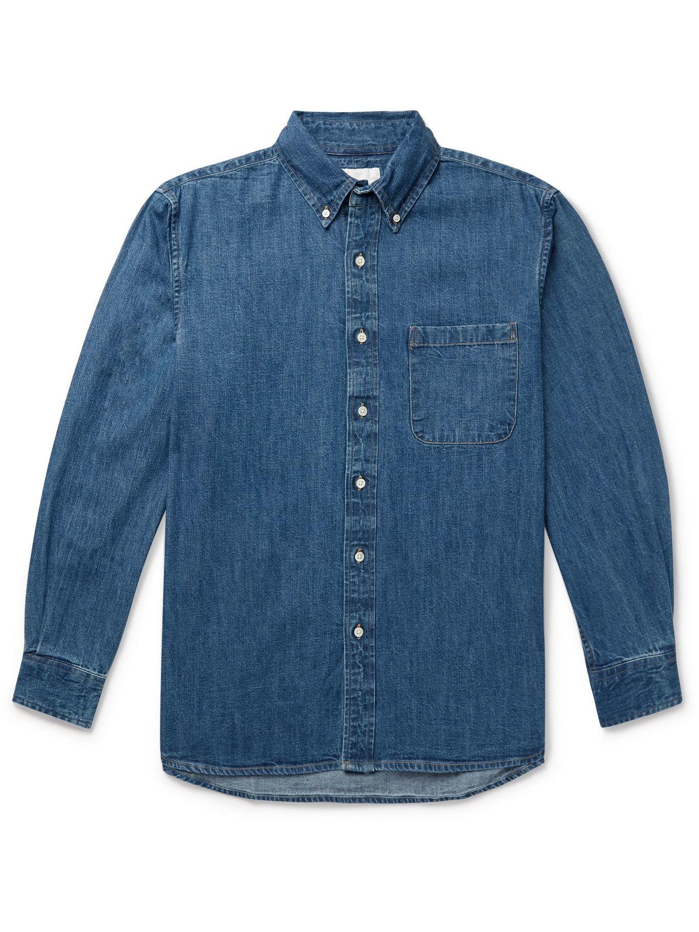 Photo: ADSUM - Button-Down Collar Denim Shirt - Blue