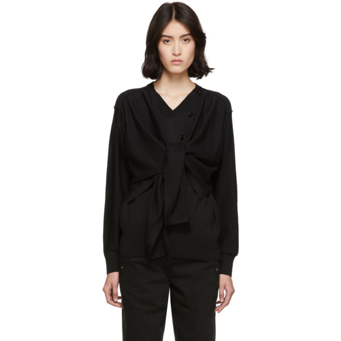 Photo: Lemaire Black Cardigan Sweater