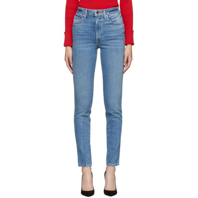 0ddf5dfe32 Khaite Blue Vanessa High-Rise Straight Jeans Khaite